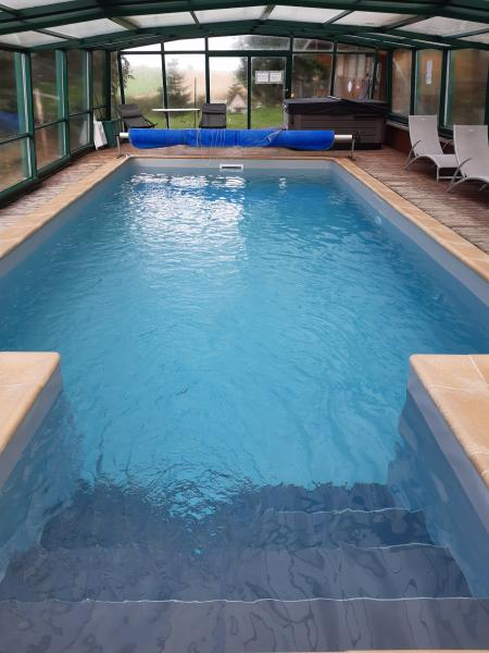 piscine au sel chauffée