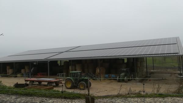 centrale photovoltaïque de la ferme bio de They